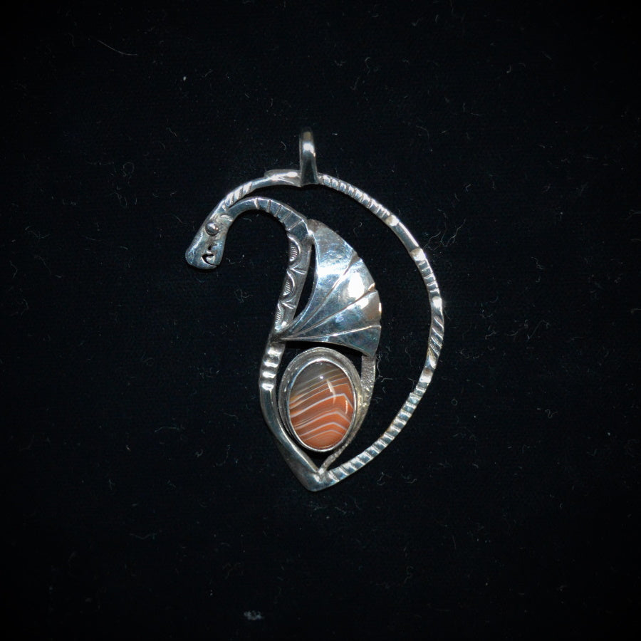Sterling silver dragon pendant by Tim Terry