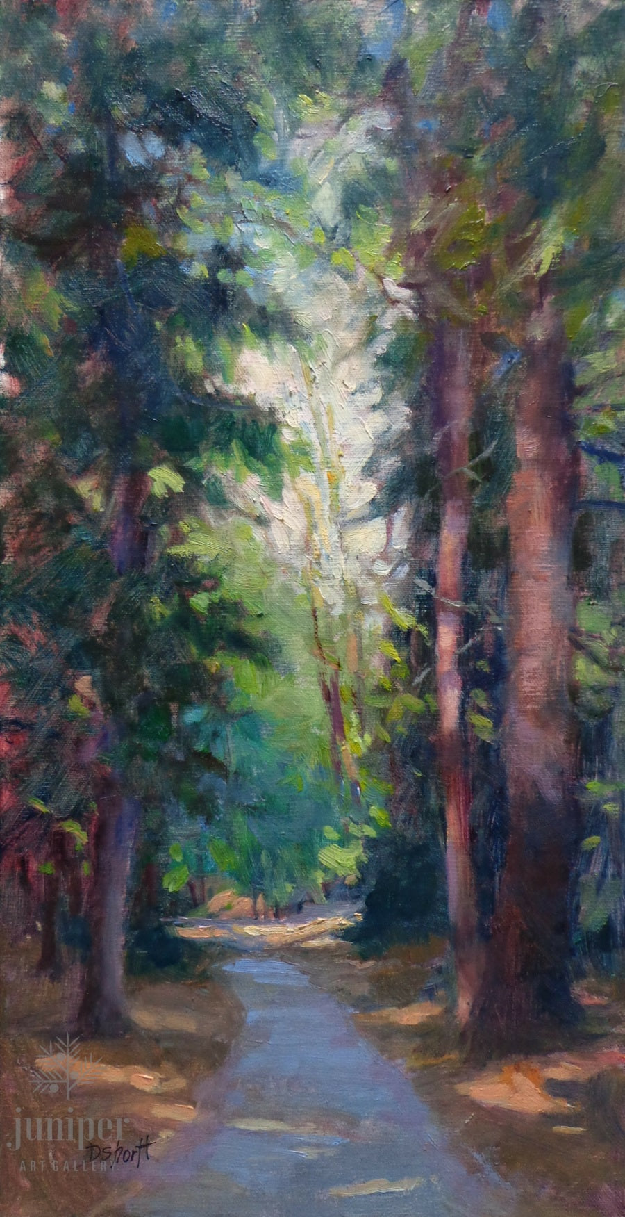 SOLD! Walk Between, oil painting by Donna Shortt