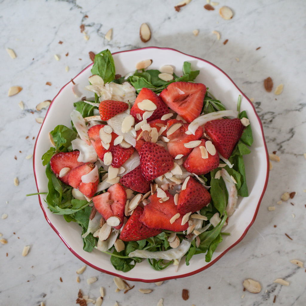 Baby Spinach & Berry Salad with Spicy Maple Sunflower Seeds