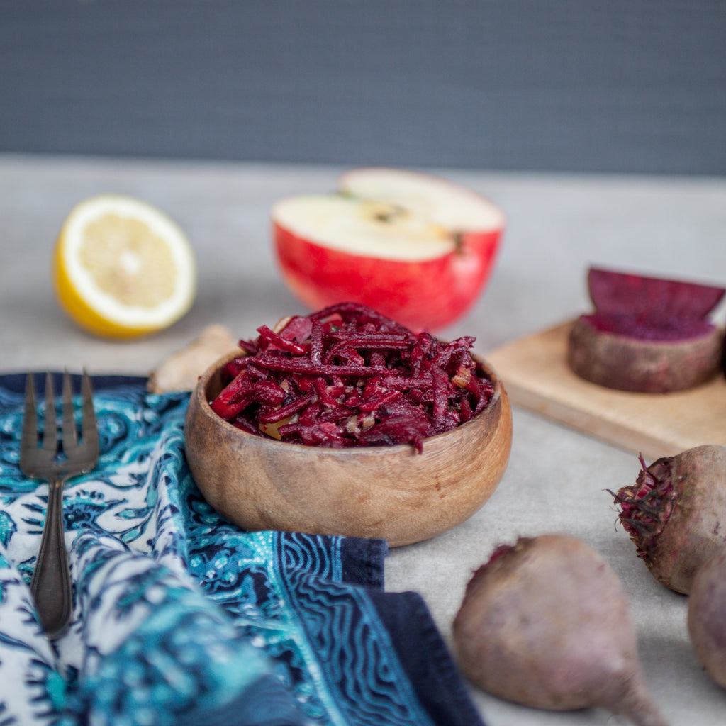 Beet, Apple & Ginger Slaw