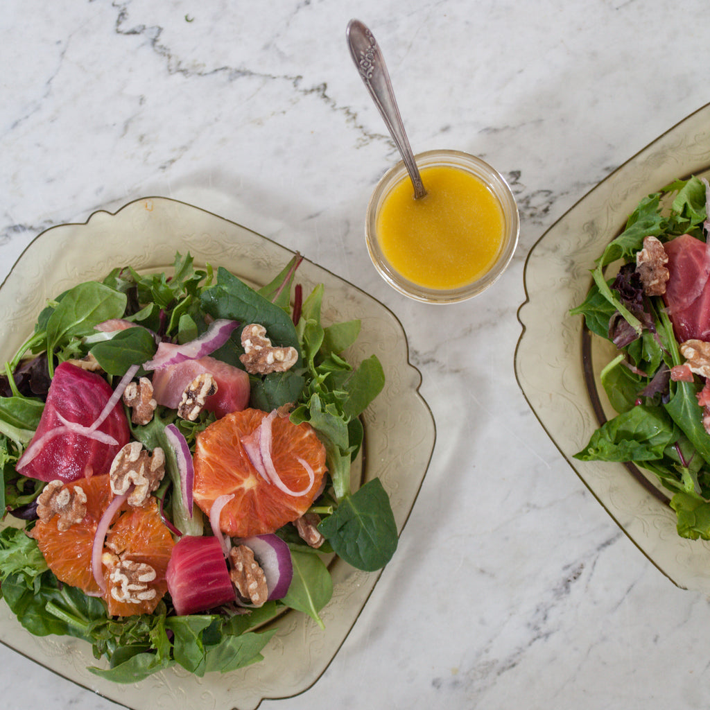 Arugula, Roasted Beet & Orange Salad w/ Toasted Pecans