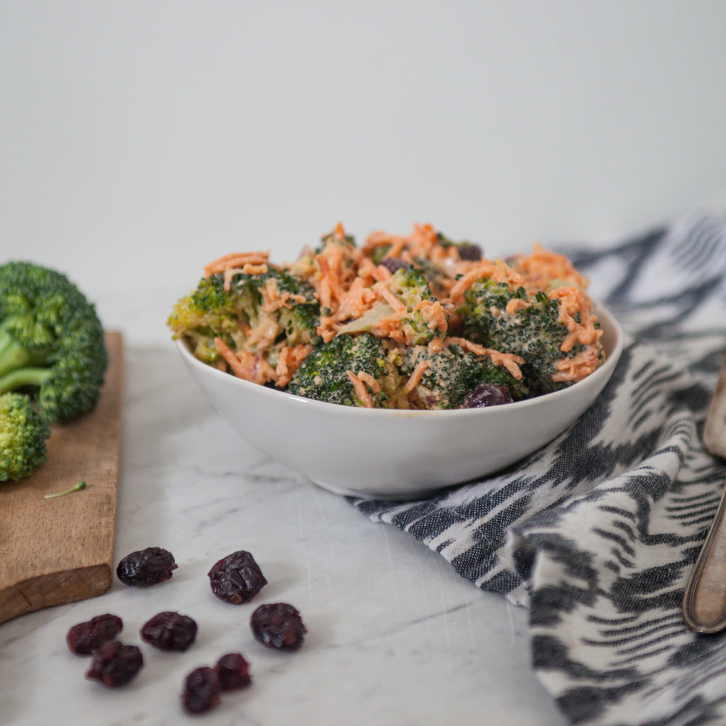 Broccoli Salad w/Honey-Tahini Dressing