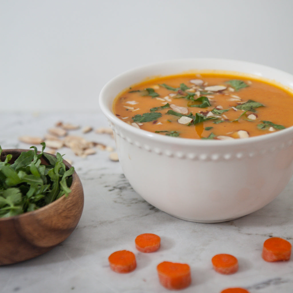 Chilled Carrot, Ginger and Pineapple Soup