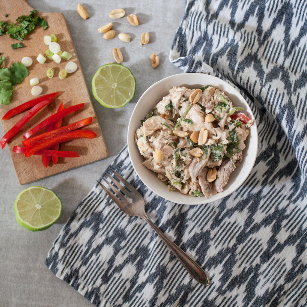 Chicken Salad w/Indonesian-Style Peanut Dressing