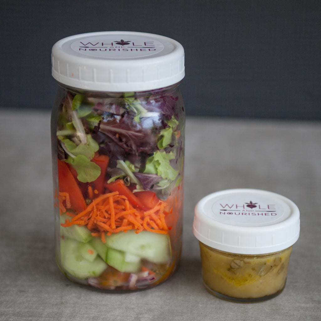 Chopped Salad w/ Cucumber, Carrot, Tomato, Microgreens, Toasted Almonds & Citrus Vinaigrette