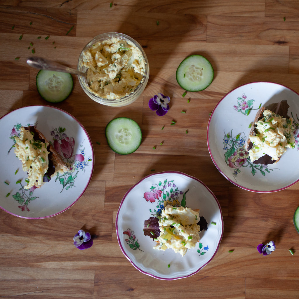 Lemony Egg Salad w/Fennel, Parsley and Homemade Mayo