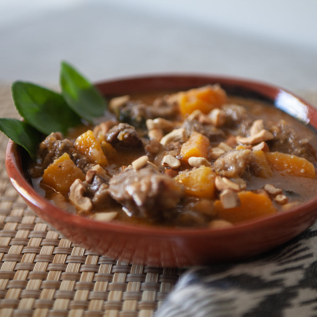 Massaman Beef and Butternut Squash Curry w/Cashews