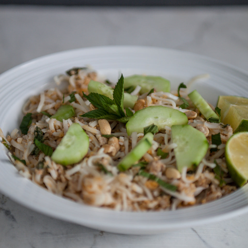 Pork Rice Noodles w/Cucumber & Peanuts