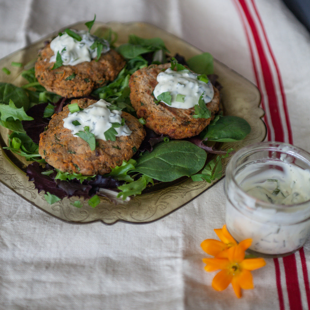 Salmon Cakes with Homemade Tartar Sauce