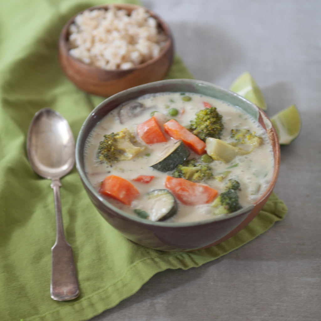 Thai Green Curry Soup w/Veggies