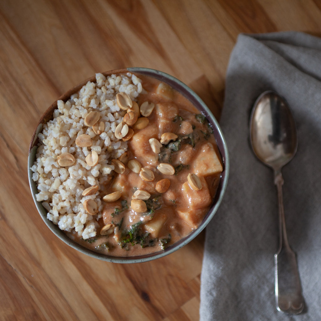 West African Stew w/Peanuts, Sweet Potato & Kale