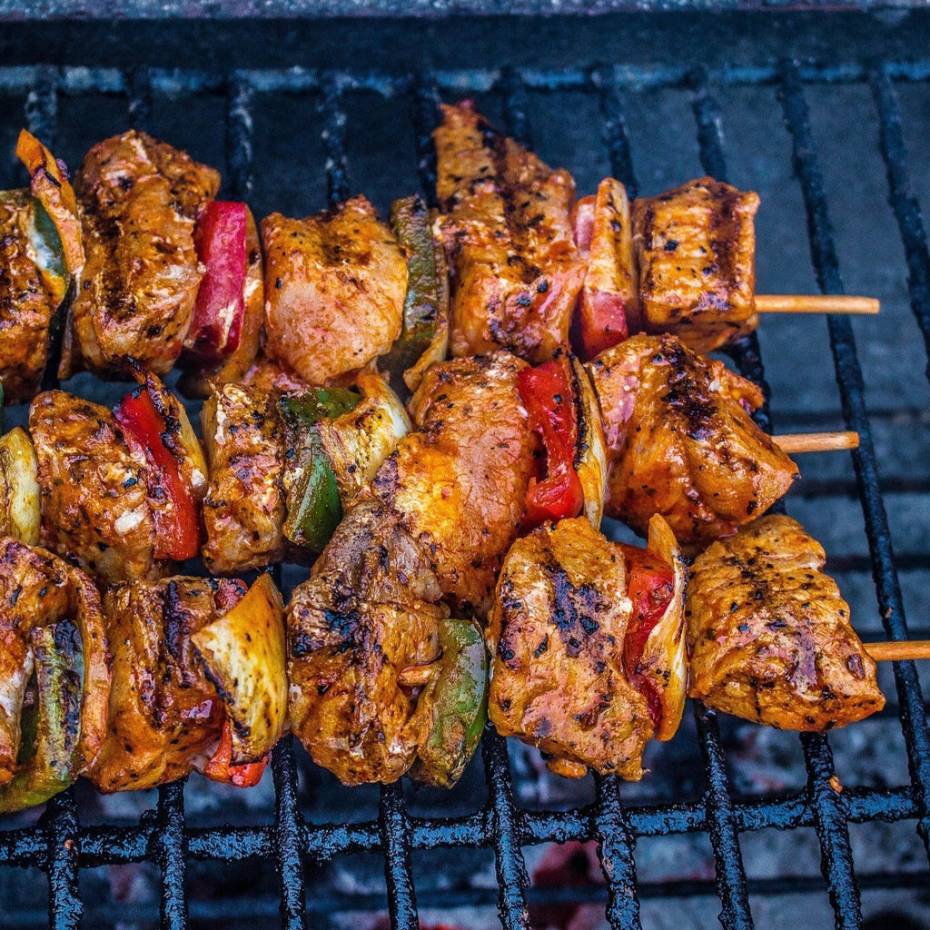 Grill-at-Home - Garlic and Bay-Leaf Beef Skewers - Feeds 4-6