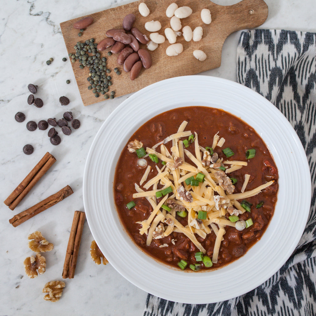 Chocolate Walnut Three-Bean Chili
