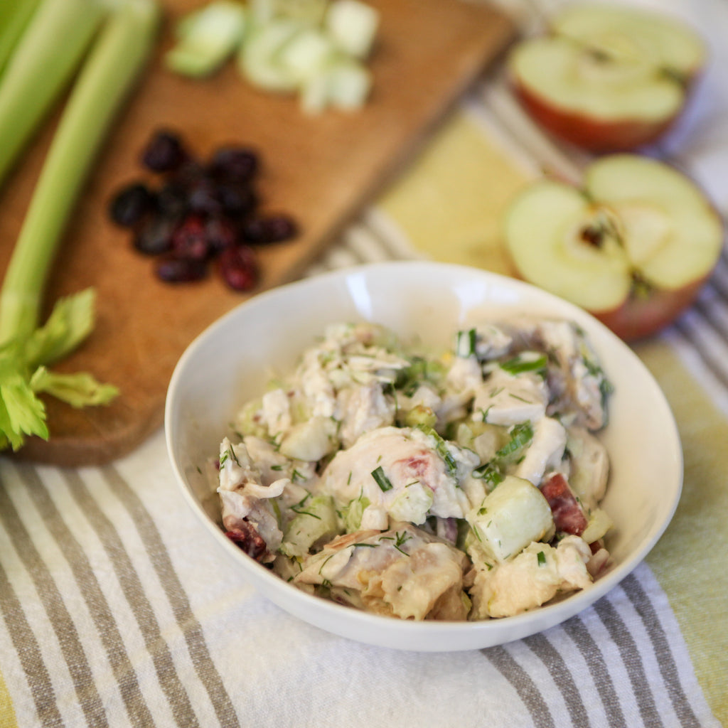 Classic Chicken Salad w/ Homemade Mayo and Fresh Herbs
