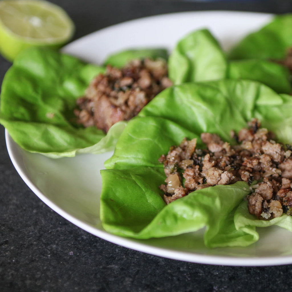 Black Bean and Quinoa Taco Lettuce Wraps