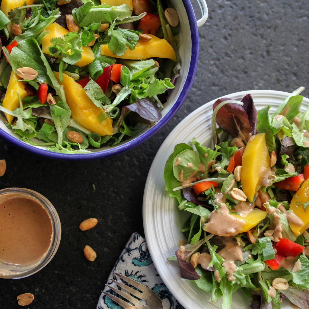 Thai Green Salad w/Mango and Peanut Dressing
