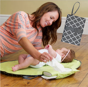 Baby Changing Station & Diaper Clutch Kit