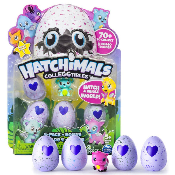 🔥 Hatchimals Egg CollEGGtibles (4-Pack + Bonus)