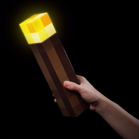 😎 Cool & Bright! Minecraft Light Up Torch 11""