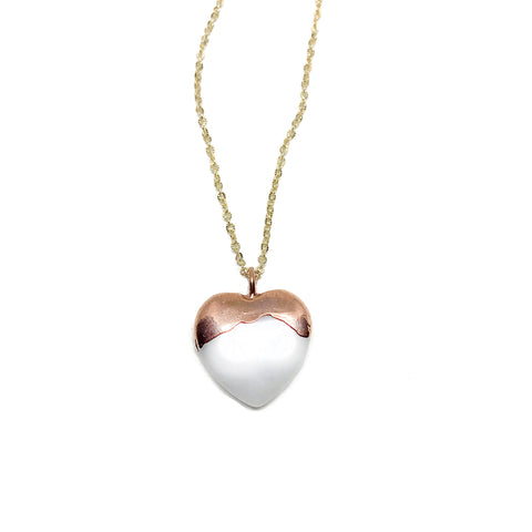 Dipped Heart (White Aventurine)