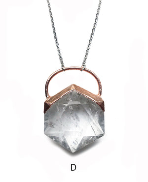 Ultra Hex - Clear Quartz Hexagon Necklace