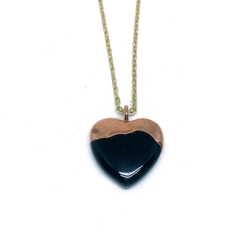 Dipped Heart (black onyx)