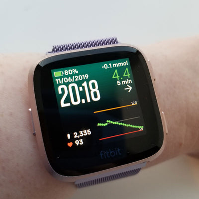 See your Dexcom readings on the Fitbit Versa smart watch