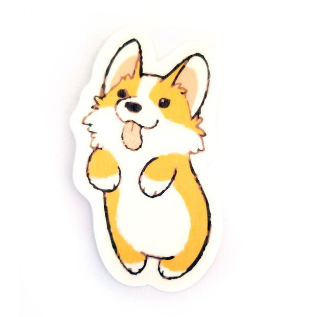 No cutout Silly Patch: Corgi