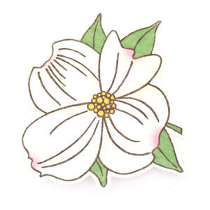 No cutout Silly Patch: Dogwood flower