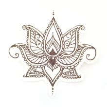 Dexcom G6 Silly Patch: Black Henna lotus flower