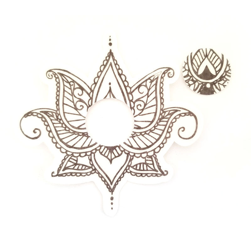 Freestyle Libre Silly Patch: Black Henna lotus flower