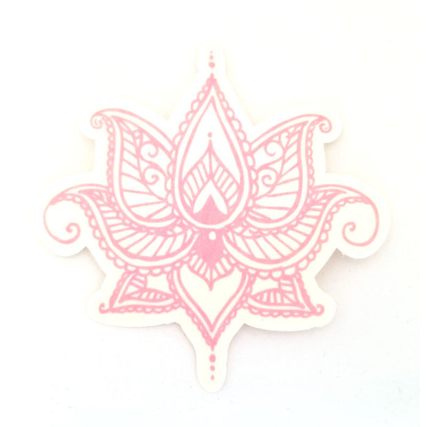 Dexcom G6 Silly Patch: Pink henna lotus flower