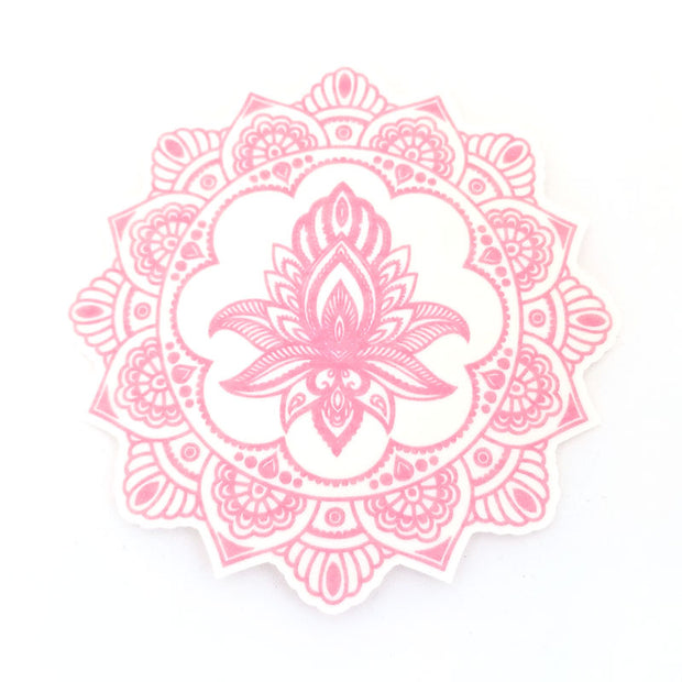 Dexcom G6 Silly Patch: Pink henna lotus mandala