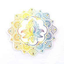 Freestyle Libre Silly Patch: Rainbow Henna lotus mandala