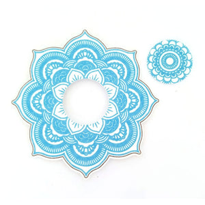 Freestyle Libre Silly Patch: Light blue mandala