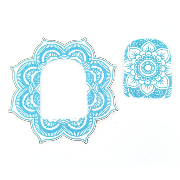 Omnipod Silly Patch: Light blue mandala