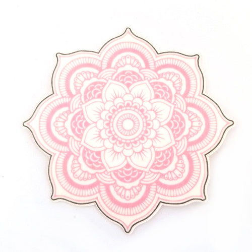 No cutout Silly Patch: Pink mandala