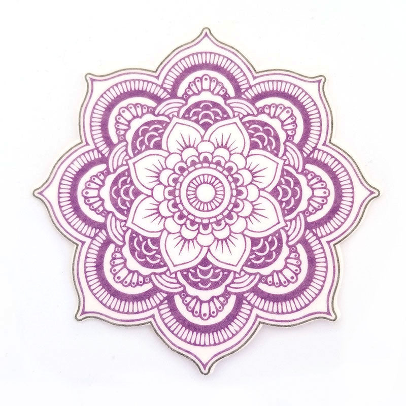No cutout Silly Patch: Purple mandala