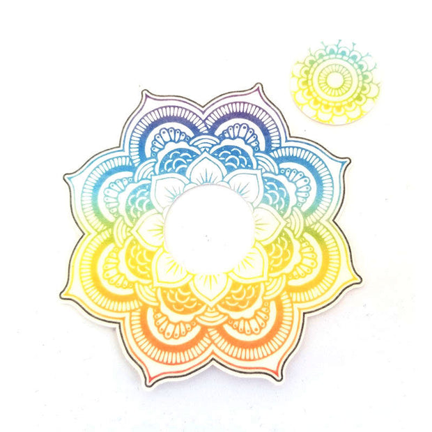 Freestyle Libre Silly Patch: Rainbow mandala