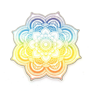 No cutout Silly Patch: Rainbow mandala