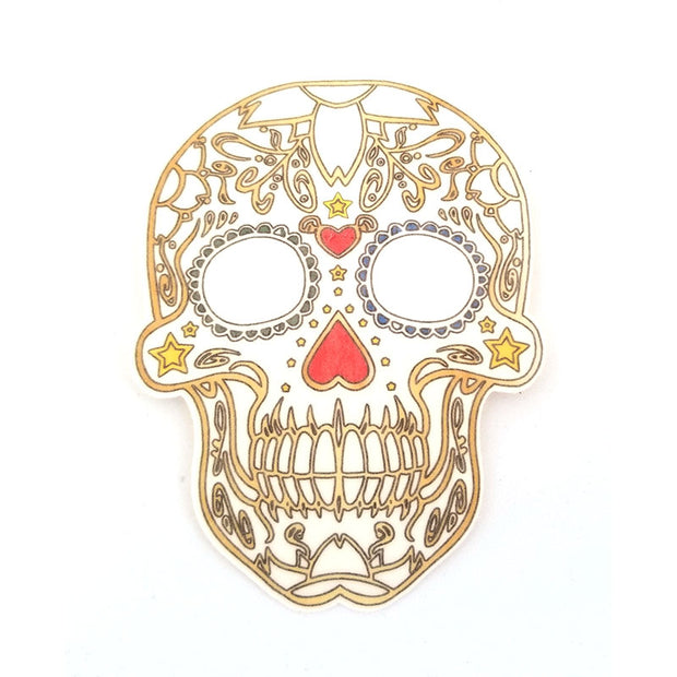No cutout Silly Patch: Sugar skull