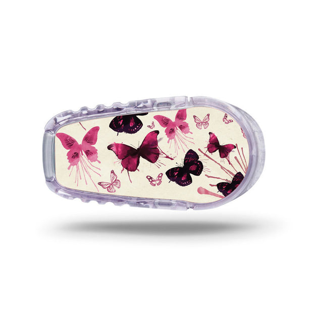 Dexcom G6 transmitter sticker: Butterflies
