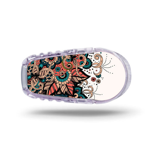 Dexcom G6 transmitter sticker: Flowers