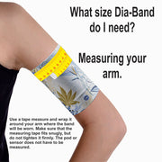 Dia-Band Armband, Junior Size - Cover your sensor: Fuschia flash