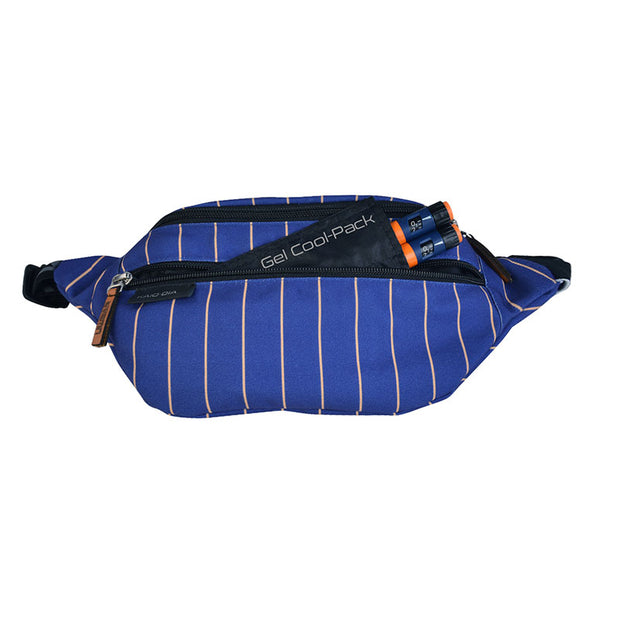 Dia-GO! EASY - Diabetes fanny pack: Blue stripes
