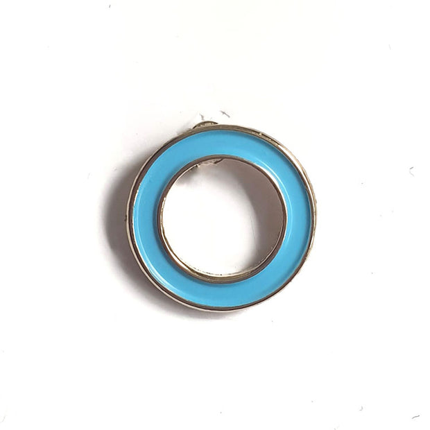 Organising Chaos Diabetes Awareness Blue Circle Enamel Pin