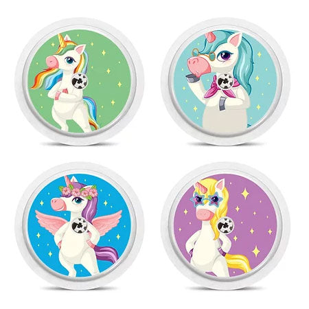 Freestyle Libre 4 sensor stickers: Unicorns