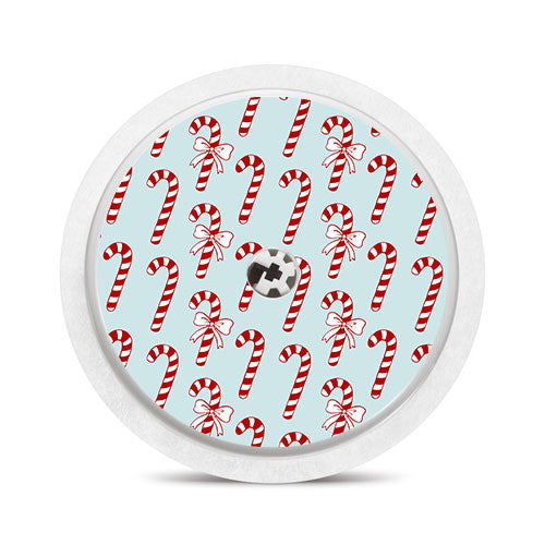 Freestyle Libre sensor sticker: Candy canes