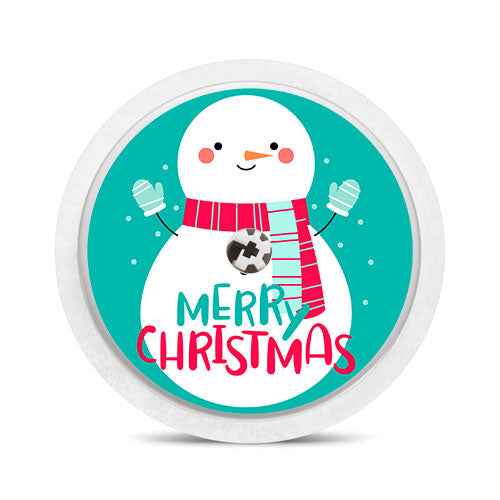 Freestyle Libre sensor sticker: Merry Christmas snowman