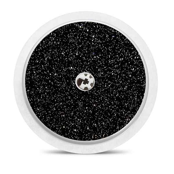 Freestyle Libre sensor sticker: Black glitter